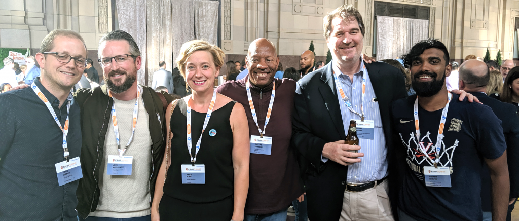 EShip reception at Kansas City Union Station with my fellow Startup Champions David Hirsch, John McElligot, Dwayne Johnson, Danny Briere, Andrew Mathew