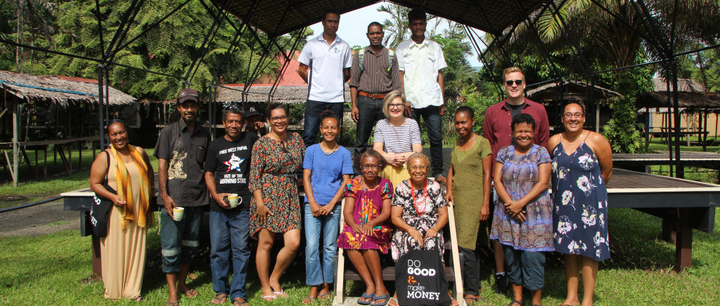 Isaac Jeffries at the end of one of his workshops in Fiji